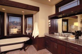 Customized master bathroom