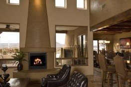 Vegas and fireplace