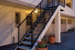 Remodeled exterior stairs