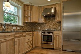 Kitchen remodel with custom cabinets