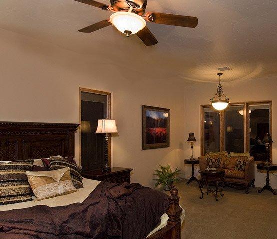 Interior shot of a custom design-build master bedroom