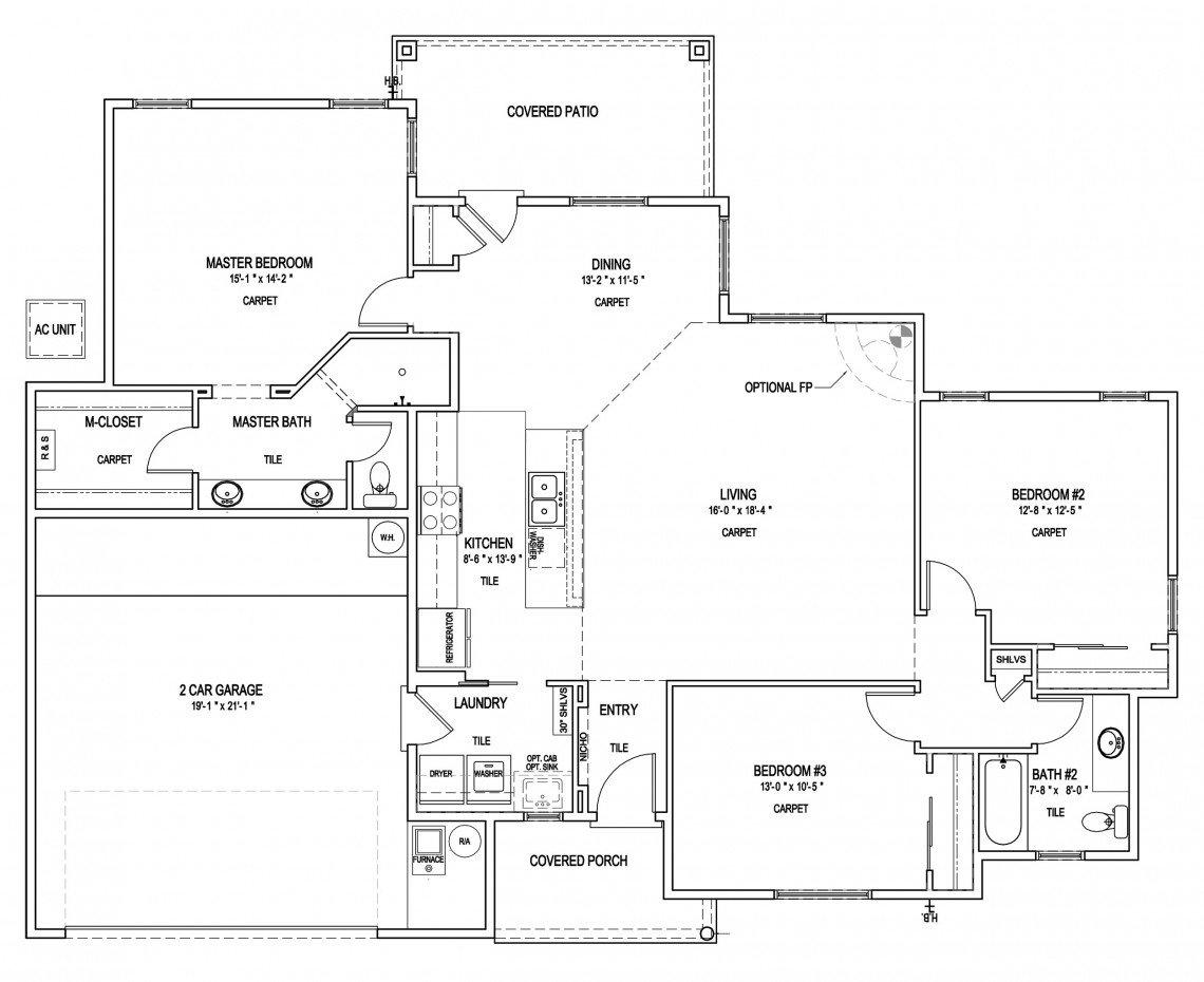 Abiquiu Floorplan - 1505 sq ft