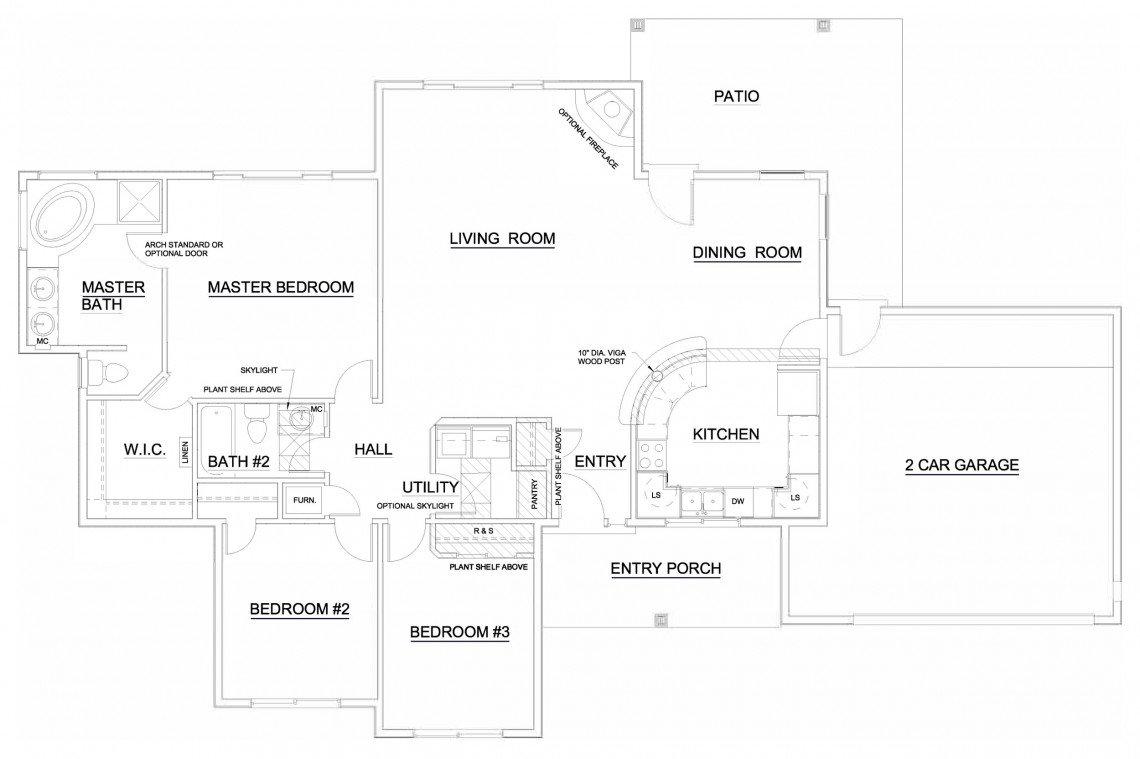 Black Mesa Floorplan - 1,508 sq ft
