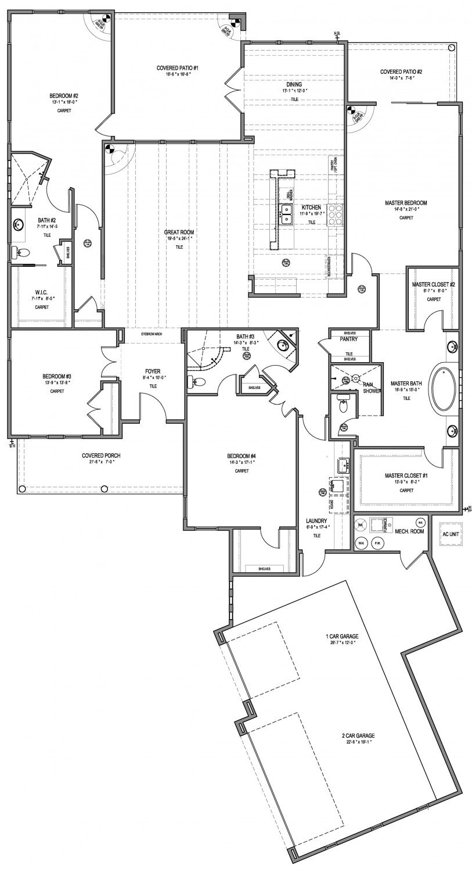 Calico Rose Floorplan - 3,408 sq ft
