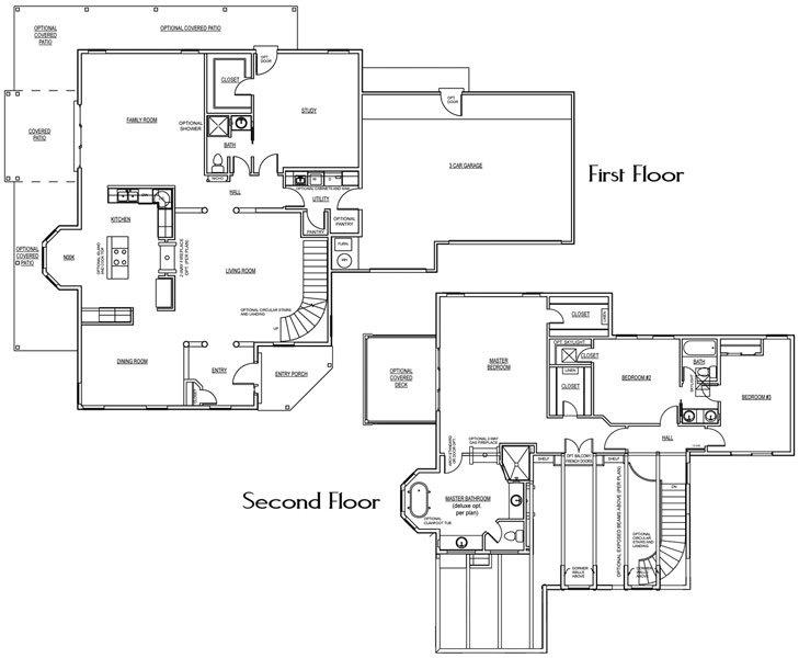 Red Hills Floorplan - 3,179 sq ft