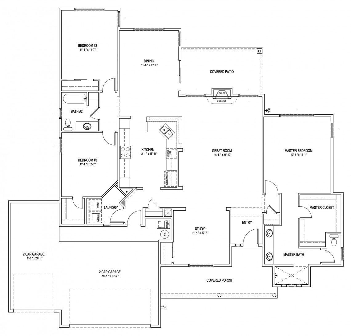 Sunflower Floorplan - 2,008 sq ft