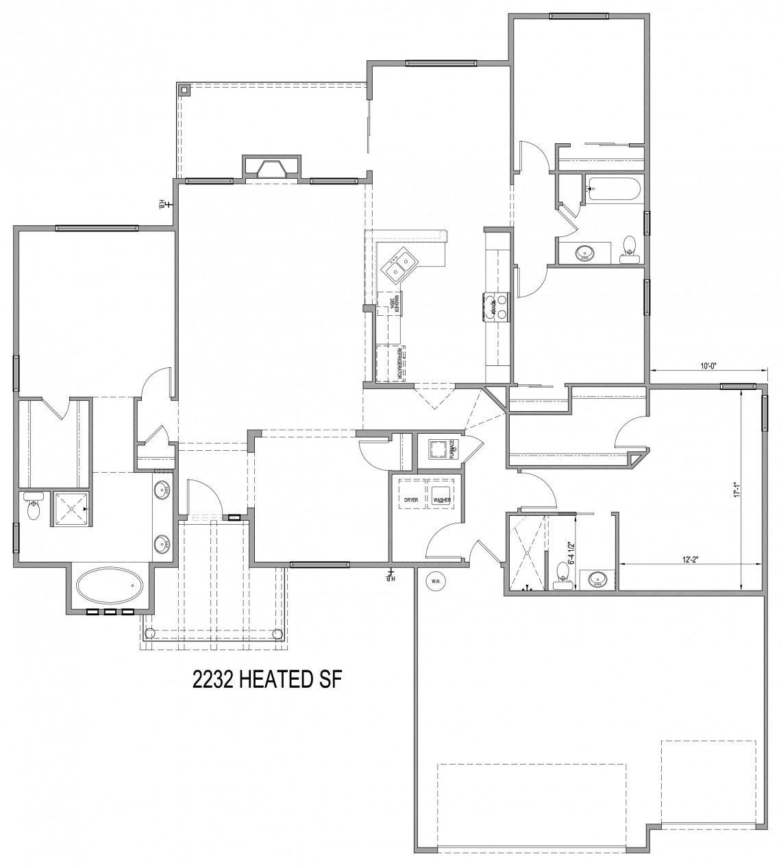 Sunflower Floorplan - 2,232 sq ft