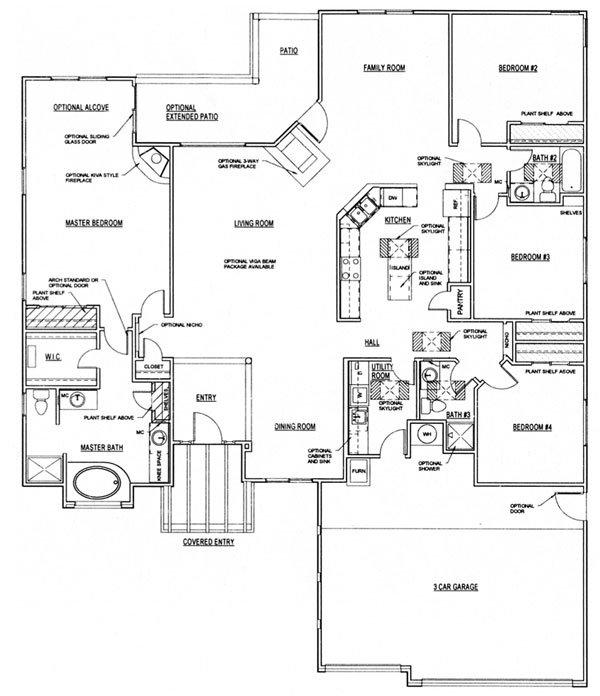 Sunflower Floorplan - 2,508 sq ft