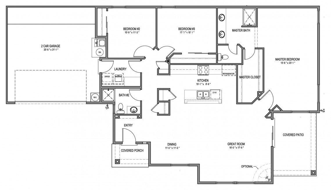 Willow Floorplan - 1,645 sq ft